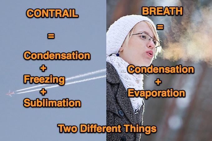 Différence souffle, contrails