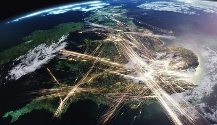 Britain From Above Air Traffic Contrail Science