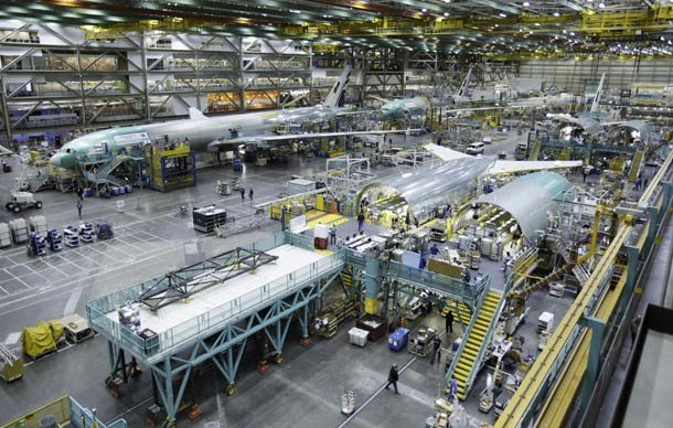 Boeing 777 Assembly line at Everett