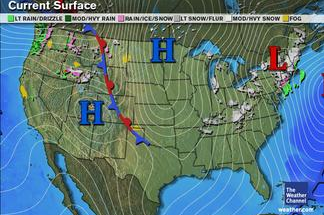 Current Front Map Current Weather Map With Fronts | States Maps
